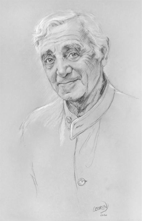 Charles Aznavour por Lebrun